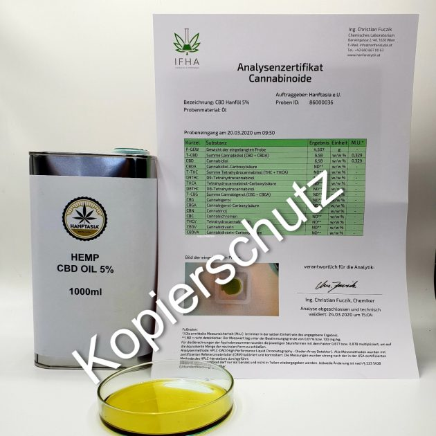 BULK Hemp CBD Oil 5%