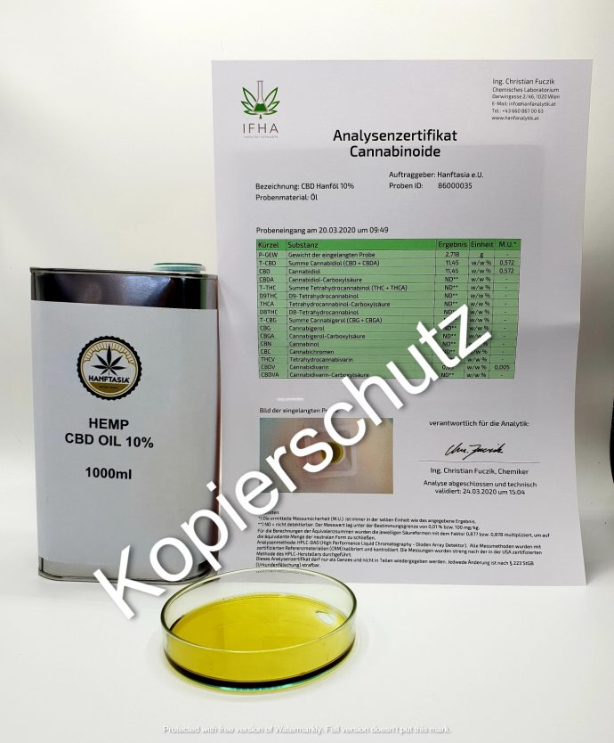 BULK Hemp CBD Oil 10%